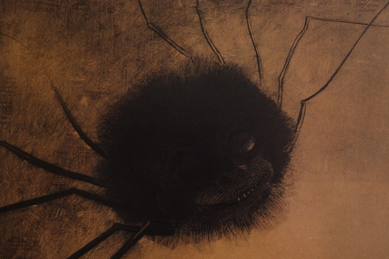 «Smilende edderkopp» (utsnitt), Odilon Redon, 1881.